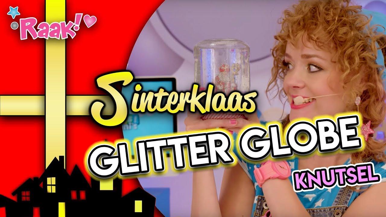 Raak! viert Sinterklaas. Sinterklaas glitter globe knutsel op RTL Telekids